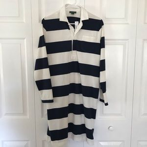 NWT JCrew Striped Rugby Dress Sz Med